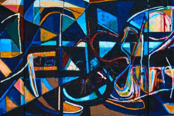 Abstrakte malerier af Thomas Højrup