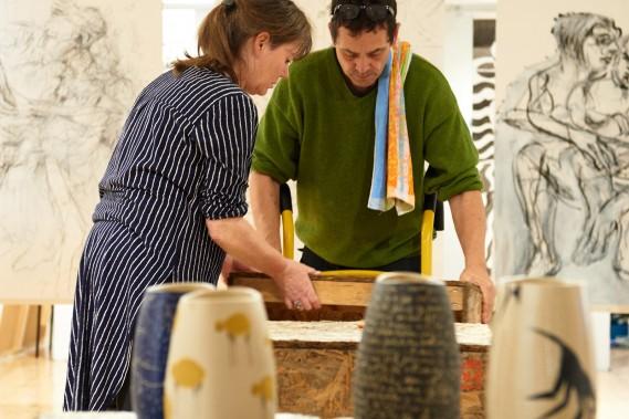 Thom Gagner og Birgitte Kitamoto - Opsætning